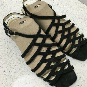 Cappagallo Sling Back Sandals Sz 9.5 Black Strappy